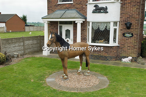 Urban fibreglass  horse. Redholm Farm Leicestershire UK.