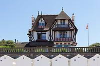 France, Calvados (14), Cabourg, villa de la promenade Marcel Proust // France, Calvados, Cabourg, villa on promenade Marcel Proust and  beach cabins