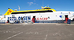 Fred Olsen Bocayna Express ferry at Playa Blanca, Lanzarote, Canary Islands, Spain