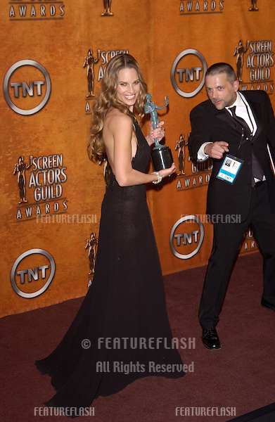 Feb 5, 2005; Los Angeles, CA: HILARY SWANK at the 11th Annual Screen Actors Guild Awards at the Shrine Auditorium.