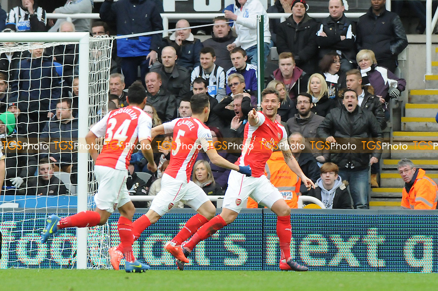 Olivier Giroud of Arsenal celebrates scoring Arsenal's second goal - Newcastle United vs Arsenal - Barclays Premier League Football at St James Park, Newcastle upon Tyne - 21/03/15 - MANDATORY CREDIT: Steven White/TGSPHOTO - Self billing applies where appropriate - contact@tgsphoto.co.uk - NO UNPAID USE