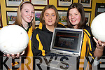 WORLD WIDE: Checking out the new Abbeydorney Ladies GAA Website in Abbeydorney on Friday last were Rosie Young, Mary Roche and Ciara Maunsell.
