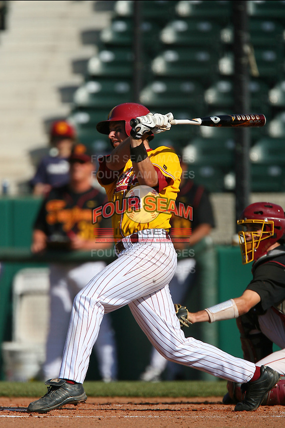 March 16 2009: Sean Sullivan of the Winthrop Eagles during game against the USC Trojans at Dedeaux Field in Los Angeles,CA.  Photo by Larry Goren/Four Seam Images