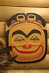 Alaska, Cruising the Southeast wilderness waterways on the Spirit of Discovery. Visit to Tlingit native village of Kake, population 800.  Photos of clothing design, jewelry, totem pole, bear, wood carver, world tallest totem pole at 132 feet, dances, male dancer (model released) and houses..Photo #: alaska10718 .Photo copyright Lee Foster, 510/549-2202, lee@fostertravel.com, www.fostertravel.com.