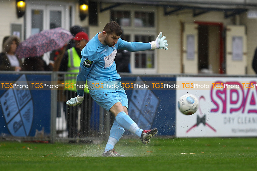 Callum Chafer of AFC Hornchurch during Hampton & Richmond Borough vs AFC Hornchurch, Emirates FA Cup Football at the Beveree Stadium on 6th October 2018