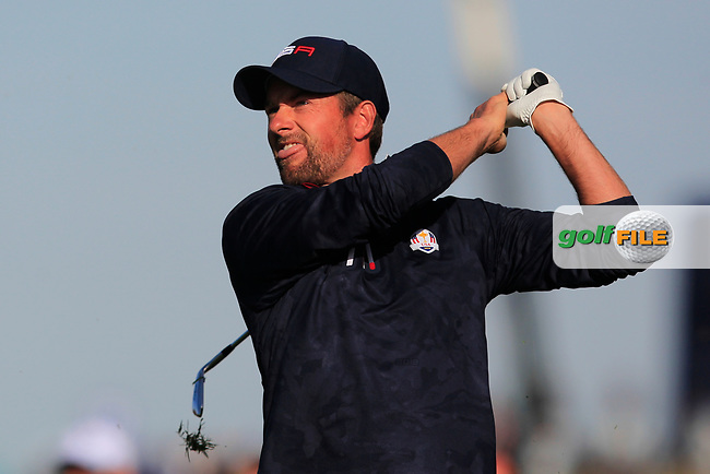 Webb Simpson (Team USA) at the 12th fairway during Saturday Foursomes at the Ryder Cup, Le Golf National, Ile-de-France, France. 29/09/2018.<br /> Picture Thos Caffrey / Golffile.ie<br /> <br /> All photo usage must carry mandatory copyright credit (© Golffile | Thos Caffrey)