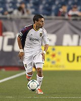 Real Salt Lake midfielder Javier Morales (11) brings the ball forward and looks to pass.