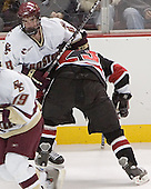 Brett Motherwell, Brian Swiniarski - The Boston College Eagles defeated Northeastern University Huskies 5-3 on Saturday, November 19, 2005, at Kelley Rink in Conte Forum at Chestnut Hill, MA.