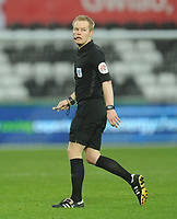 Referee Gavin Ward<br /> <br /> Photographer Kevin Barnes/CameraSport<br /> <br /> The EFL Sky Bet Championship - Swansea City v Bolton Wanderers - Saturday 2nd March 2019 - Liberty Stadium - Swansea<br /> <br /> World Copyright © 2019 CameraSport. All rights reserved. 43 Linden Ave. Countesthorpe. Leicester. England. LE8 5PG - Tel: +44 (0) 116 277 4147 - admin@camerasport.com - www.camerasport.com