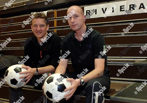 Burgemeester Janssens met Jurgen Frensch van Riviera.