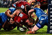 11th July 2020, Christchurch, New Zealand;  Joe Moody of the Crusaders drops the ball during the Super Rugby Aotearoa, Crusaders versus Blues, at Orangetheory Stadium, Christchurch