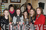 All Ireland and Munster Championship winners Mairead and Norita Kelly with l-r: Aoife Kerins, Laura Kelly, Aoife Clifford, Orla Kelly and Ciara Quilter at the Rathmore Social Action Variety show in aid of Haiti in Rathmore on Saturday night