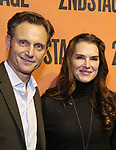 Tony Goldwyn and Brooke Shields backstage at  the Second Stage Theater Broadway lights up the Hayes Theatre at the Hayes Theartre on February 5, 2018 in New York City.