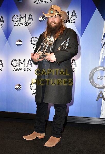 04 November 2015 - Nashville, Tennessee - Chris Stapleton. 49th Annual CMA Awards, CMA Awards 2015, Country Music's Biggest Night, held at Bridgestone Arena. <br /> CAP/ADM<br /> &copy;ADM/Capital Pictures
