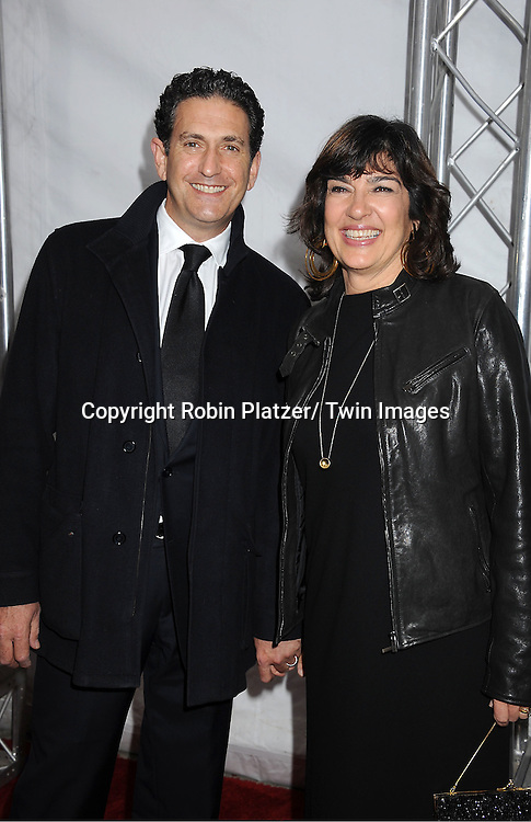 "James Ruben and wife Christiane Amanpour attend The New York Premiere of Angelina Jolie's movie ."" In the Land of Blood and Honey"" on December 5, 2011 at The School of Visual Arts Theatre in New York City."