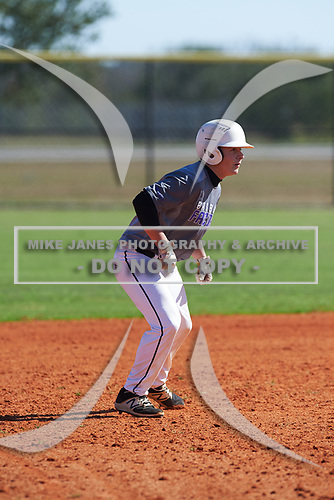 Conor Ellingsworth (9) of Laurel, Delaware during the Baseball Factory All-America Pre-Season Rookie Tournament, powered by Under Armour, on January 14, 2018 at Lake Myrtle Sports Complex in Auburndale, Florida.  (Michael Johnson/Four Seam Images)