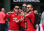 Fans pose for selfies before kick off during the Premier League match at Old Trafford Stadium, Manchester. Picture date: September 10th, 2016. Pic Simon Bellis/Sportimage