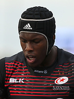 Maro Itoje of Saracens<br /> <br /> Photographer Rob Newell/CameraSport<br /> <br /> Aviva Premiership - Saracens v Wasps - Sunday 8th October 2017 - Allianz Park - Hendon<br /> <br /> World Copyright &copy; 2017 CameraSport. All rights reserved. 43 Linden Ave. Countesthorpe. Leicester. England. LE8 5PG - Tel: +44 (0) 116 277 4147 - admin@camerasport.com - www.camerasport.com