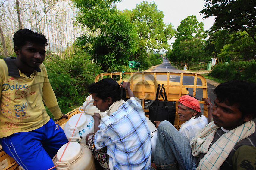 In a trishaw, Then Mari's team ride to Gethesal village. Like his father and great father before him, Then Mari harvests the cliffs for this village of the Soliga tribe, who don't collect honey. The thirty-odd tribes of the Nilgiris have always shared the products of the forest.