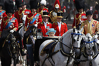 HM The Queen Elizabeth II<br /> Trooping the Colour, at Buckingham Palace, London, England, UK  June 09, 2018.<br /> CAP/GOL<br /> &copy;GOL/Capital Pictures