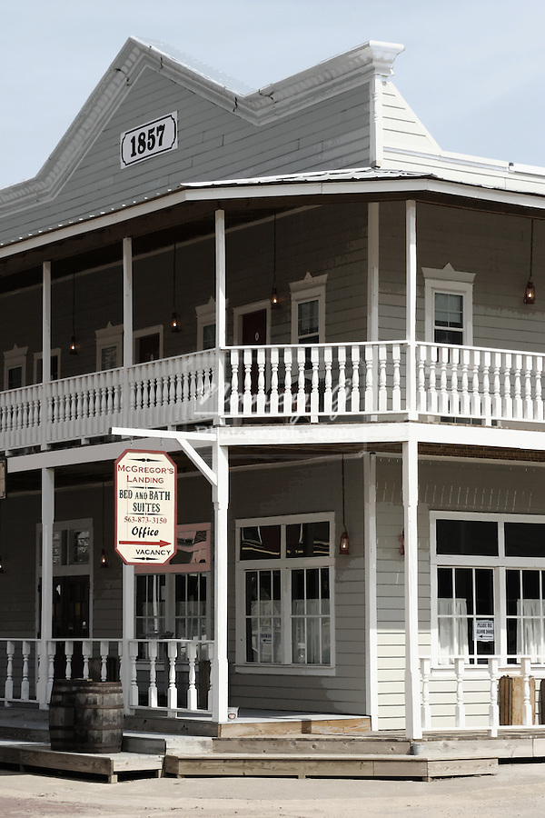 An 1857 replica western style building in McGregor Iowa