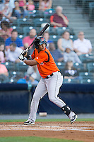 Garabez Rosa (2) of the Bowie Baysox at bat against the Richmond Flying Squirrels at The Diamond on May 23, 2015 in Richmond, Virginia.  The Baysox defeated the Flying Squirrels 3-2.  (Brian Westerholt/Four Seam Images)