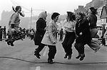 Shrove Tuesday Skipping, Scarborough, Yorkshire. England 1974.<br />