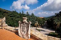 Garten der Villa dei Mulin, Portoferraio, Elba, Italien
