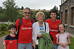 7-7-2017; Paddy, Terry, Chris, Claire and Roisin Murphy from Cobh pictured in the village of Sneem in County Kerry on day 1 of the Kerry Way Walk in aid of Breakthrough Cancer Research on Friday evening. The three dayt charity walk continues in Derrynane on Saturday and South Kerry on Sunday.<br /> Photo Don MacMonagle<br /> <br /> Repro free photo breakthrough cancer research <br /> <br /> <br /> <br /> pictured in the village of Sneem in County Kerry on day 1 of the Kerry Way Walk in aid of Breakthrough Cancer Research on Friday evening. The three dayt charity walk continues in Derrynane on Saturday and South Kerry on Sunday.<br /> Photo Don MacMonagle<br /> <br /> Repro free photo breakthrough cancer research