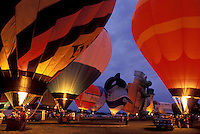 AJ1067, Vermont, hot air balloon, Colorful hot air balloons glow at the Champlain Valley Balloon & Craft Festival in Essex Junction.
