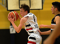 Action from the 2017 Zone 3 AA Secondary Schools basketball premierships boys match between Feilding High School and Scots College at Arena Manawatu in Palmerston North, New Zealand on Wednesday, 6 September 2017. Photo: Dave Lintott / lintottphoto.co.nz