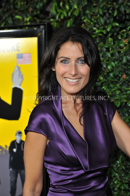 WWW.ACEPIXS.COM . . . . . ....September 15 2009, LA....Lisa Edelstein arriving at the LA screening of  'Capitalism: A Love Story' on September 15, 2009 in Beverly Hills, California.....Please byline: JOE WEST- ACEPIXS.COM.. . . . . . ..Ace Pictures, Inc:  ..(646) 769 0430..e-mail: info@acepixs.com..web: http://www.acepixs.com