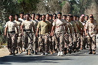 two I.C.D.C platoons are trained by a US Army 1st cav 2/8 instructors at camp cuervo, Rusthamya, Baghdad on the second week of june 2004. The training lasts 30 days after wich the units start joint patrols with the coalition forces..