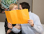 """Megan Pickrell and Patrick Cummings during a photo shoot for """"Fiercely Independent"""" at the Hilton Garden Inn on February 12, 2019 in New York City."""