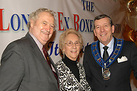 Bernard Hart (L), ex-boxer and founder of the the famous sports brand Lonsdale with Mary Powell (C) and Stephen Powell at the London Ex-Boxers Awards 2010