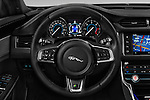 Car pictures of steering wheel view of a 2016 Jaguar XF R-Sport 4 Door Sedan Steering Wheel