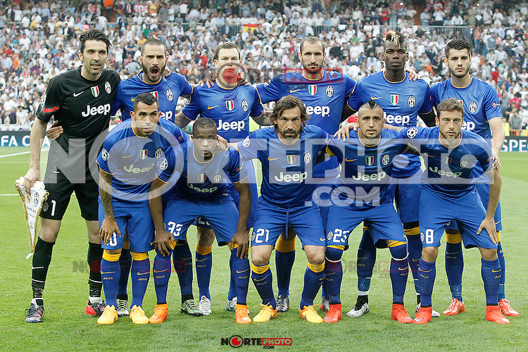 Juventus' team photo during Champions League 2014/2015 Semi-finals 2nd leg match.May 13,2015. (ALTERPHOTOS/Acero) /NortePhoto.COM