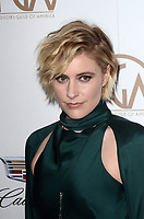 LOS ANGELES - JAN 20:  Greta Gerwig at the Producers Guild Awards 2018 at the Beverly Hilton Hotel on January 20, 2018 in Beverly Hills, CA