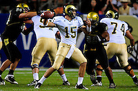 31 Aug 2008: Colorado State quarterback Billy Farris (15) readies to release a pass against Colorado. The Colorado Buffaloes defeated the Colorado State Rams 38-17 at Invesco Field at Mile High in Denver, Colorado. FOR EDITORIAL USE ONLY