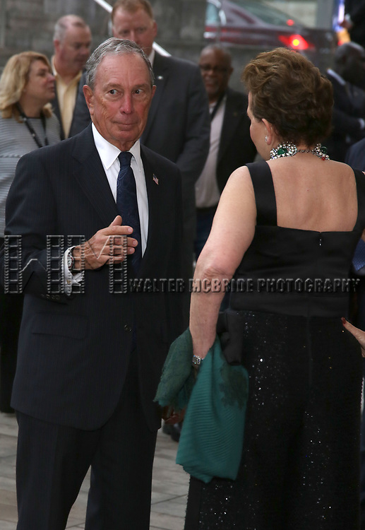 Michael Bloomberg and Adrienne Arsht  attends the Lincoln Center Honors Stephen Sondheim at the American Songbook Gala at Alice Tully Hall on June 19, 2019 in New York City.