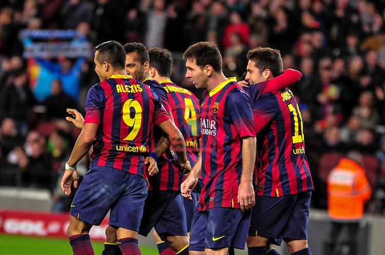 League BBVA 2013/2014 - Game: 21.<br /> FC Barcelona vs Malaga CF: 3-0.