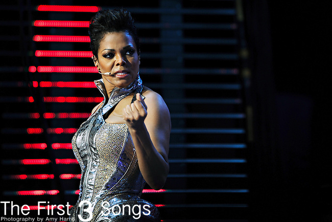 Janet Jackson performs at the Essence Music Festival in New Orleans, Louisiana on July 2, 2010.