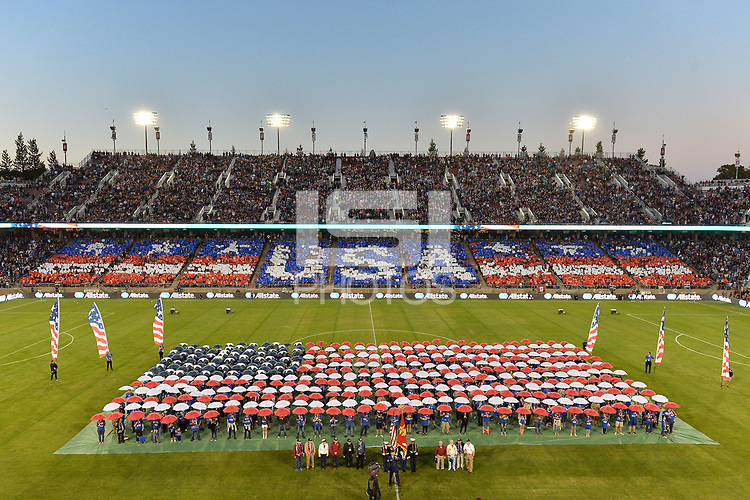 Stanford, CA - Saturday July 01, 2017: Halftime ceremony during a Major League Soccer (MLS) match between the San Jose Earthquakes and the Los Angeles Galaxy at Stanford Stadium