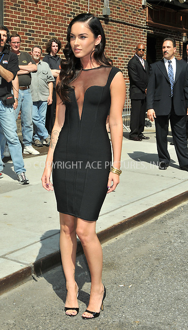 WWW.ACEPIXS.COM . . . . .  ....June 25 2009, New York City....Actress Megan Fox made an appearance at the 'Late Show with David Letterman' at the Ed Sullivan Theatre on June 25 2009 in New York City.....Please byline: AJ Sokalner - ACEPIXS.COM..... *** ***..Ace Pictures, Inc:  ..tel: (212) 243 8787..e-mail: info@acepixs.com..web: http://www.acepixs.com