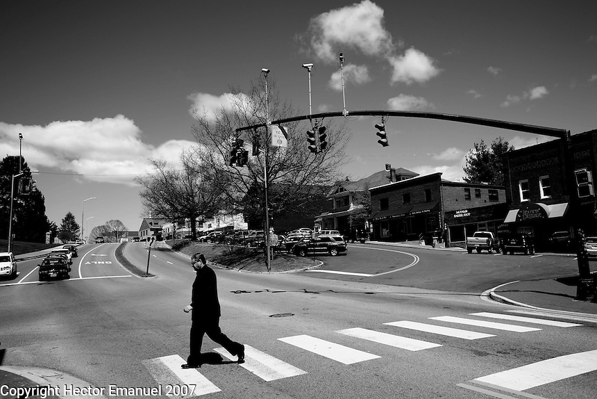 VATech shootings Day 2..Downtown Blacksburg...photo: Hector Emanuel