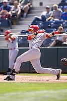 Spokane Indians' Joe Maloney #15 at bat during a game against the Everett AquaSox at Everett Memorial Stadium on June 24, 2012 in Everett, WA.  Spokane defeated Everett 11-2.  (Ronnie Allen/Four Seam Images)