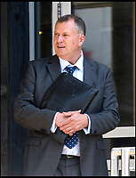 BNPS.co.uk (01202 558833)<br /> Pic:  RogerArbon/BNPS<br /> <br /> Max Walker leaves Bournemouth Magistrates court after a previous appearance.<br /> <br /> The ex-fiancee of a millionaire businessman denied started a cat fight with his new girlfriend - because she 'loved her nails too much'.<br /> <br /> Rebecca Vowles, 47, said she couldn't have banged down a locked toilet cubicle door to attack terrified love rival Samantha Newby-Vincent as it might have damaged her immaculate nails.<br /> <br /> But magistrates found the glamorous blonde defendant guilty of assault after being shown a video recording of the attack that happened in the ladies' loos at an exclusive marina in Poole, Dorset.