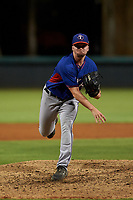 AZL Rangers relief pitcher George Janca (27) during an Arizona League game against the AZL Dodgers Mota at Camelback Ranch on June 18, 2019 in Glendale, Arizona. AZL Dodgers Mota defeated AZL Rangers 13-4. (Zachary Lucy/Four Seam Images)