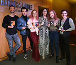 Matthew Hydzik, Michael Campayno, Teal Wicks, Stephanie J. Block, Micaela Diamond and Jarrod Spector during 'The Cher Show' Original Broadway Cast Recording performance and CD signing at Barnes & Noble Upper East Side on May 14, 2019 in New York City.
