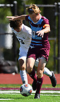 Francis Howell Central's Carter Redford (left) and DeSmet's Henry Lawlor vie for the ball. DeSmet defeated Francis Howell Central 2-1 on Saturday September 14, 2019.<br /> Tim Vizer/Special to STLhighschoolsports.com